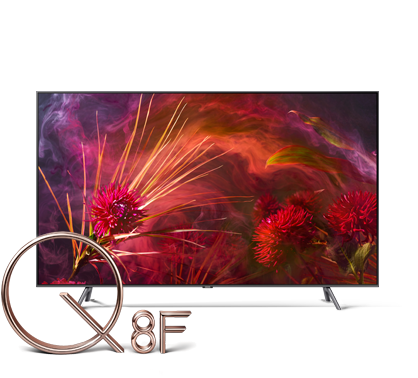 An image of Samsung 2018 new QLED TV Q8F.