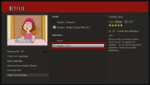 Netflix Closed Caption Availability (Watch Instantly Content)