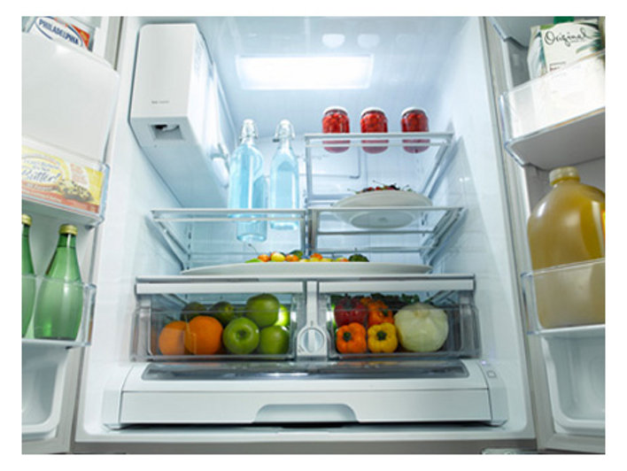 refrigerator with internal water dispenser. High-Efficiency LED Lighting Refrigerator With Internal Water Dispenser
