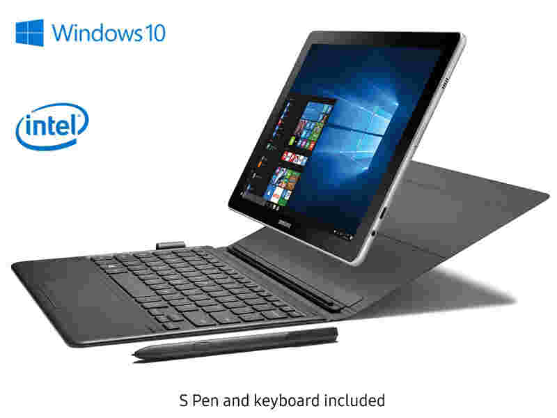 """Galaxy Book 10.6"""" Windows Tablet (Wi-Fi) with S Pen & Keyboard, Silver"""