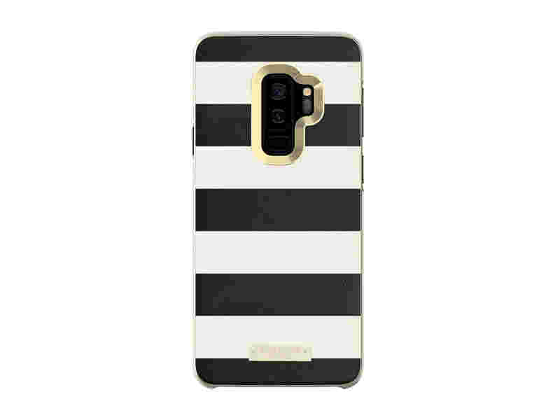 Kate Spade Wrap Inlay Case for Galaxy S9+, Black-White