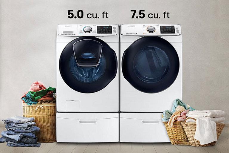 Wf7500 50 Cu Ft Addwash Front Load Washer Washers Wf50k7500aw
