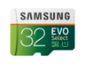 Thumbnail image of MicroSDHC EVO Select Memory Card w/ Adapter 32GB (2017 Model)