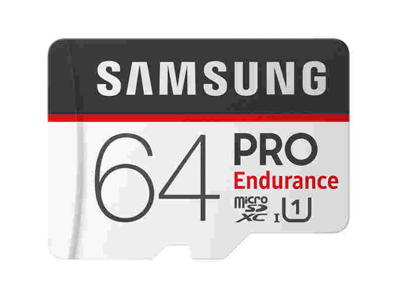 MicroSDXC PRO Endurance Memory Card w Adapter 64GB