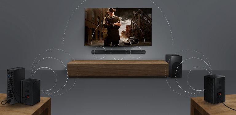 Wireless surround sound-ready