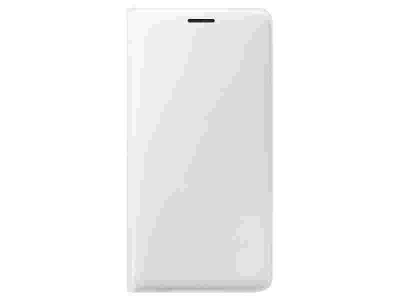 Galaxy J3 Wallet Flip Cover - White