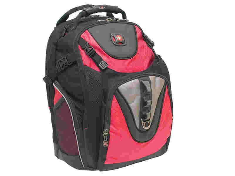 """SwissGear Red 15.4"""" Maxxum Notebook Backpack"""