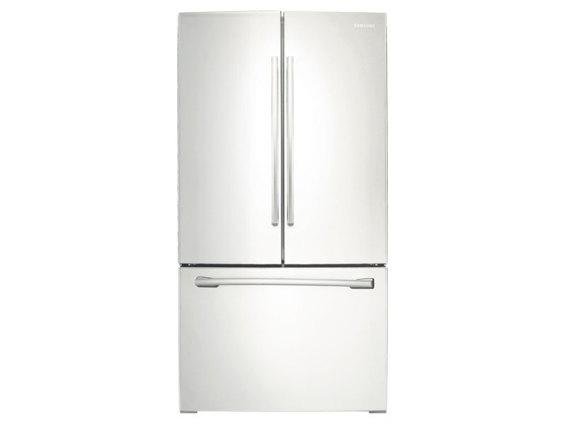 white refrigerator with ice maker. french door with filtered ice maker white refrigerator e