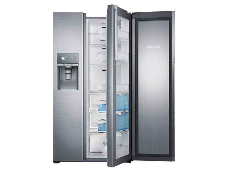 22 cu. ft. Counter Depth Side-by-Side Food ShowCase Refrigerator ... | {Kühlschränke samsung 10}