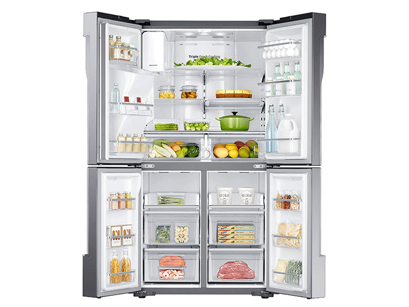 Charming Counter Depth 4 Door Flex™ Refrigerator With FlexZone™