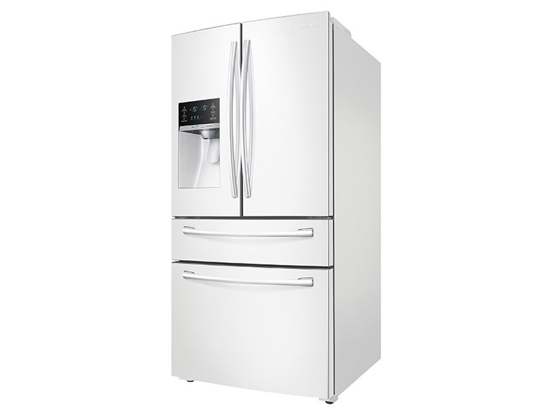 white refrigerator. 4-door french door refrigerator white