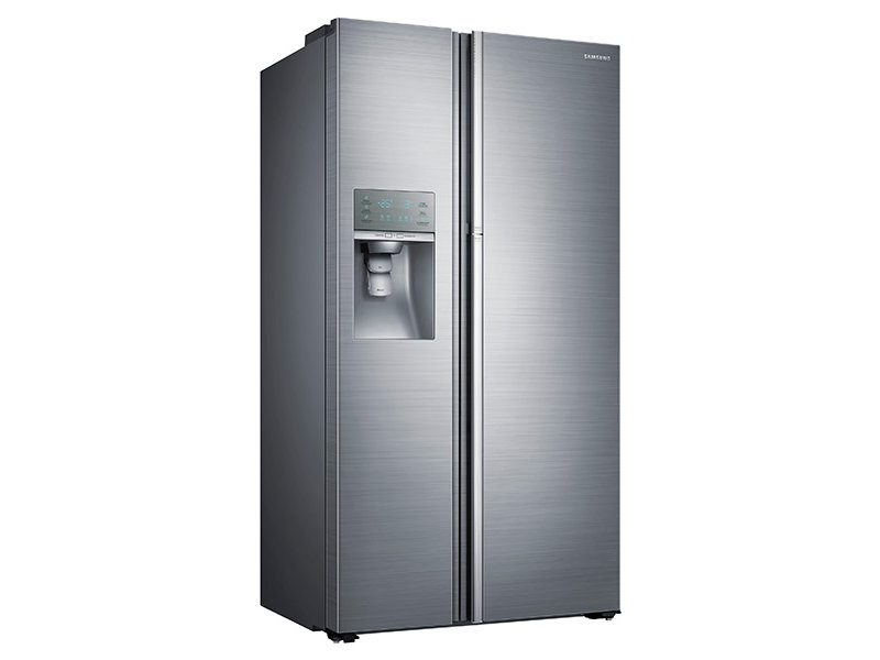 samsung refrigerator side by side. counter depth side-by-side food showcase refrigerator with samsung side by e