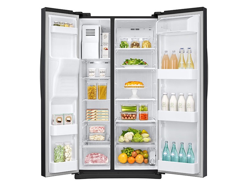 Side By Side Refrigerator With LED Lighting