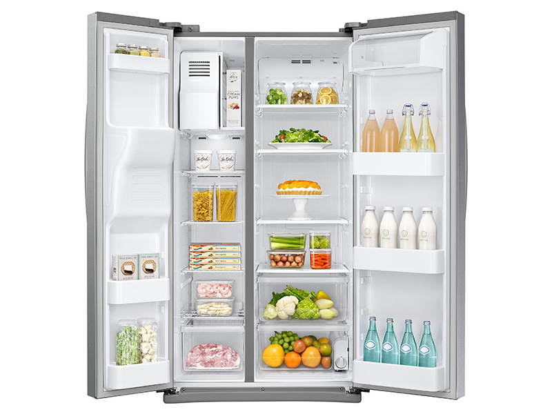 25 Cu Ft Side By Side Refrigerator With Led Lighting