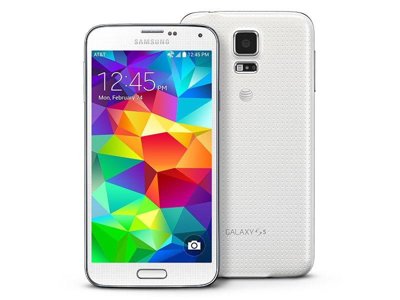samsung galaxy s5 white. galaxy s5 16gb (at\u0026t) samsung white