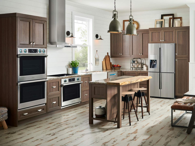 counter depth refrigerator in kitchen. counter depth 4-door flex™ refrigerator with flexzone™ in kitchen y