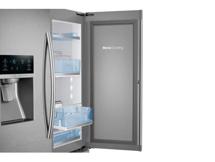 3 Door French Door Food ShowCase Refrigerator With Dual Ice Maker  Refrigerators   RF28HDEDTSR/AA | Samsung US