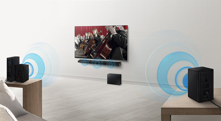 Experience more powerful surround sound