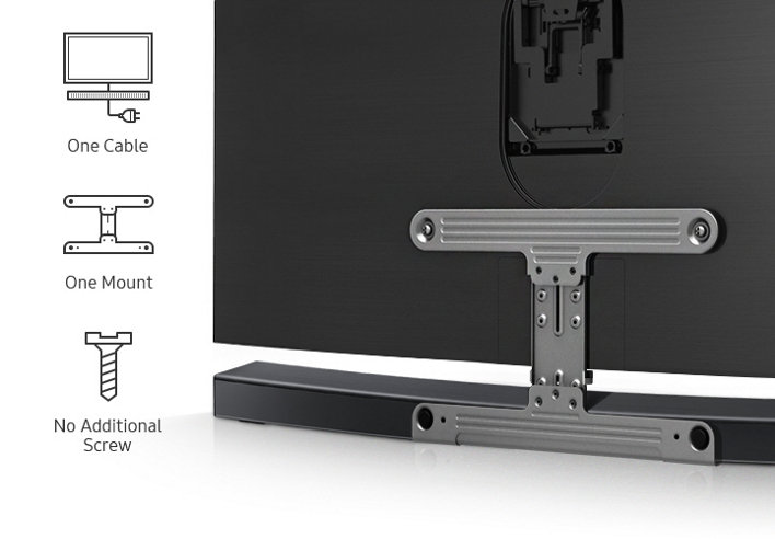 samsung wmn300sb xy sound soundbar seamless mount vesa. Black Bedroom Furniture Sets. Home Design Ideas