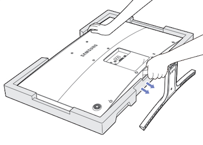 How to Assemble or Take Apart the Stand for Your S27D590C