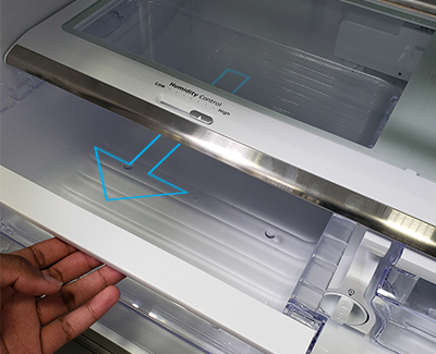 Remove The Glass Shelf Of The Refrigerator Above The Fruit