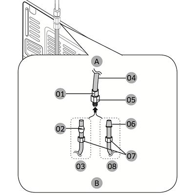 Refrigerator Water Supply Valve Ice Maker Supply Valve