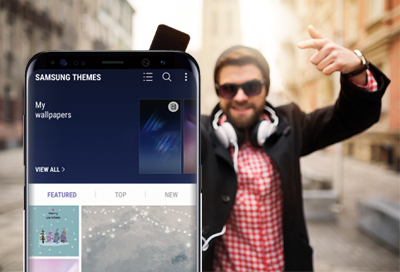 Switch Up Your Style When You Customize The Themes And Icons On S8 And S8+  To Your Taste. You Can Change Wallpaper, Adjust Icons, And Download Themes  To ...
