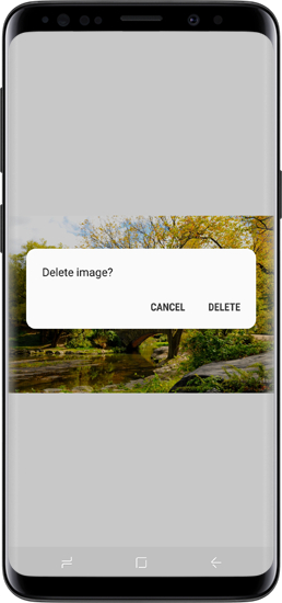 how to delete a picture on samsung