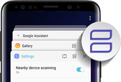 Image result for Galaxy S9 Split screen mode