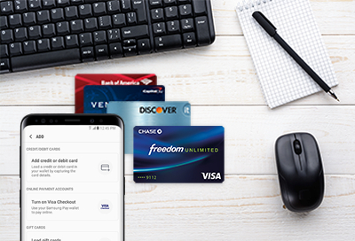 add a payment card to samsung pay - Visa Credit Card App