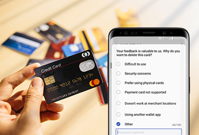 remove a payment card from samsung pay