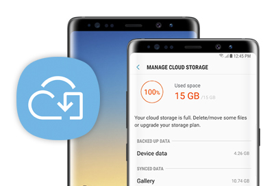use samsung cloud storage