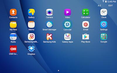 Apps Samsung Tablet