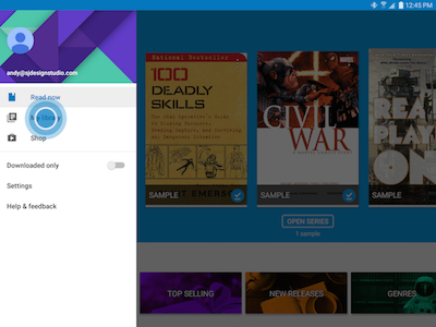 Reading ebooks on your galaxy tab s2 touch my library to view your ebooks fandeluxe Choice Image