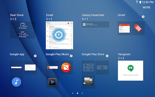 Adding A Widget To The Home Screen On Your Galaxy Tab A