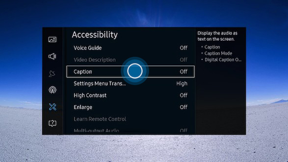 how to turn off subtitles on samsung smart tv 2016