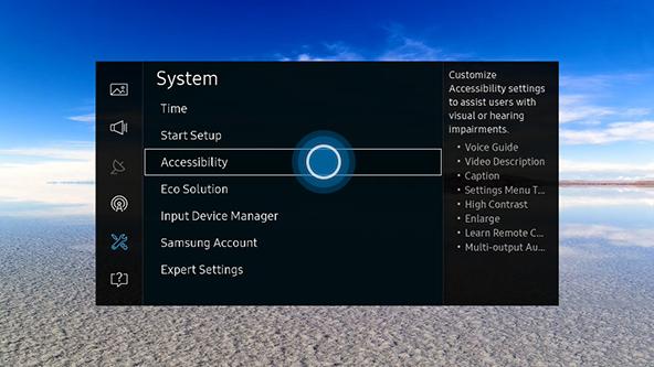 accessibility settings for your 2016 uhd tv un ku rh samsung com