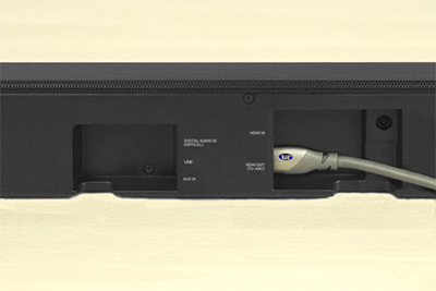 vizio sound bar wiring diagram samsung tv sound bar connection diagram connect the soundbar to your tv using hdmi (arc)