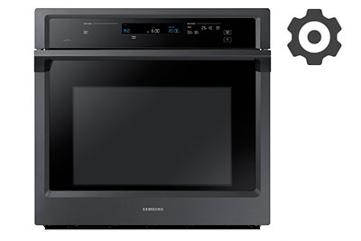 using the options menu on your electric single wall oven nv51k6650s
