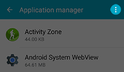 How do i access the application manager on my samsung galaxy s5 a list of apps will be displayed you can change the settings for your apps by touching more publicscrutiny Choice Image