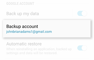 Back Up And Restore Galaxy S6 Active Using Your Google Account