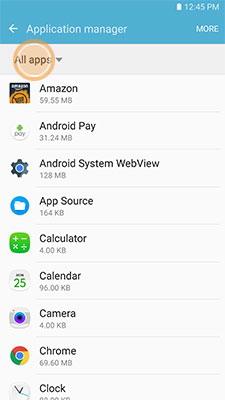 how to delete apps off a samsung galaxy3
