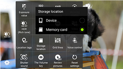 how to change where your photos are stored samsung
