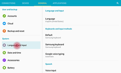how to change keyboard language on samsung galaxy
