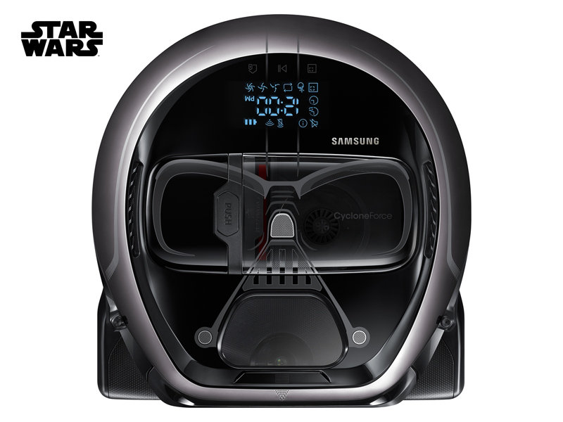 powerbot star wars darth vader robot vacuum vr1am7040w9 samsung us. Black Bedroom Furniture Sets. Home Design Ideas