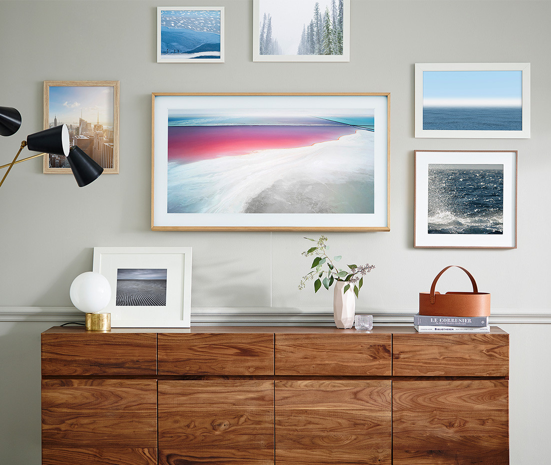 "Samsung's ""The Frame"" living room portraits interior decoration"