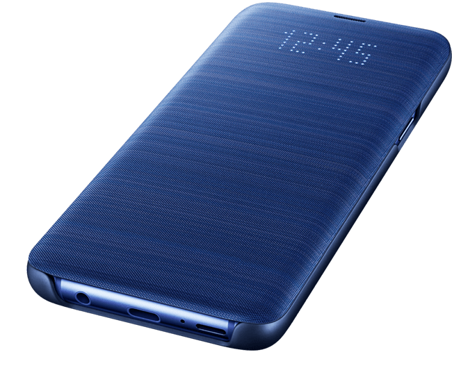 ... Galaxy S9 Blue LED Wallet Cover