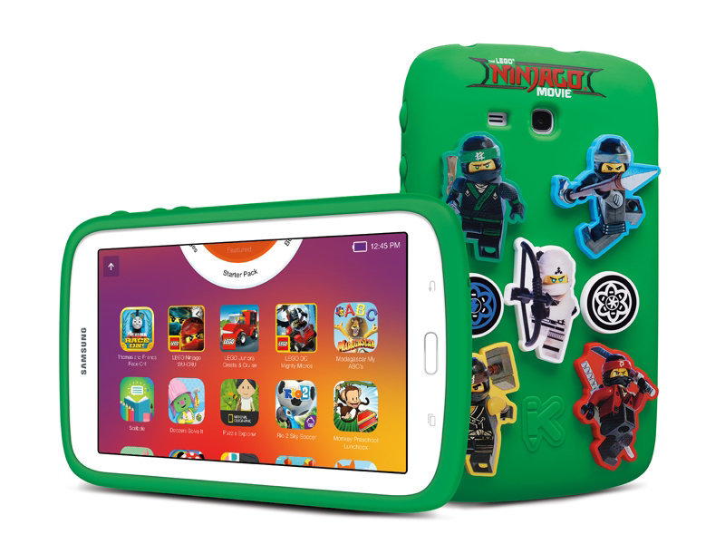 "Samsung Galaxy The Lego Ninjago Movie Edition 7"" 8GB Kids Tablet (White) + Trend Micro Internet Security"
