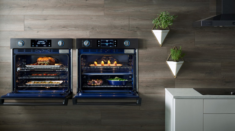 Double ovens side by side good looking ikea double oven for High end wall ovens