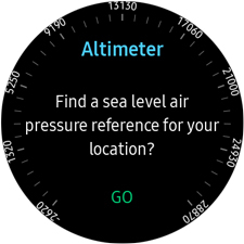Set Up And Use The Altitude And Barometric Pressure Widget On My - My location sea level